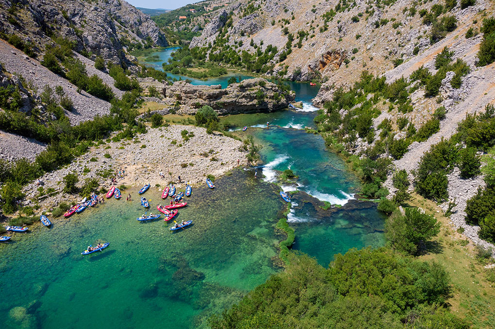 Kayaking along the Zrmanja river