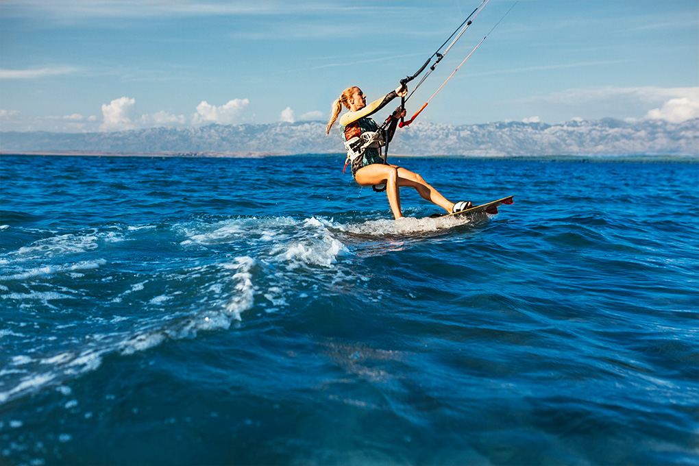 Kitesurfing adventure on holiday in Zaton (Image Source: Zadar Region - Kitesurfing in Nin)