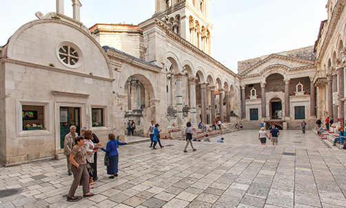 Diocletian's palace and historical complex in Split