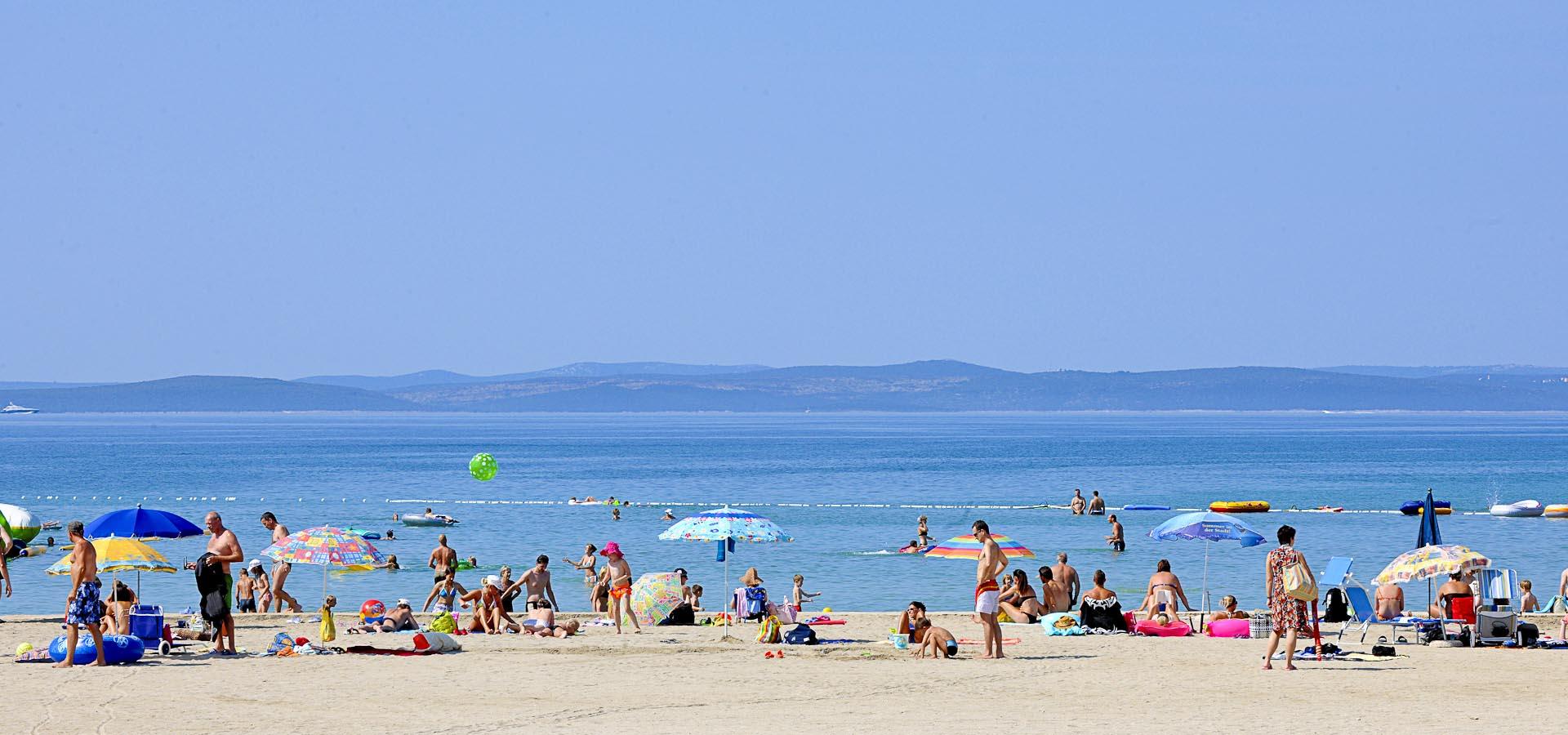 Beach Zaton Holiday Resort Dalmatia Croatia